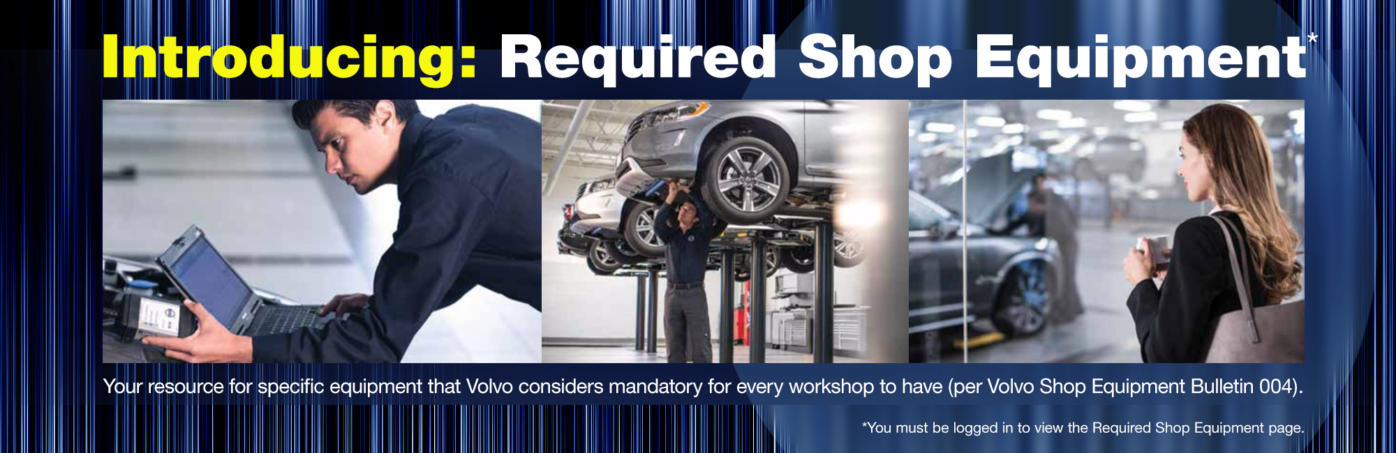 required Volvo shop equipment